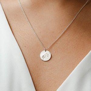 Dandelion Wish Minimal Boho Flora Charm Necklace